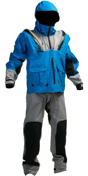 Gul Fugitive U-Zip Kitesurf Drysuit Blue / Ash SK0009 WAREHOUSE 2ND