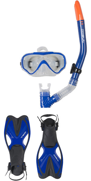 2019 Gul Tarpon JUNIOR Maske / Schnorchel & Fin SET in Blau / Schwarz GD0004