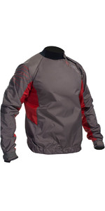 Gul Junior Shore Untaped Spraytop Grey / Red ST0030-A9