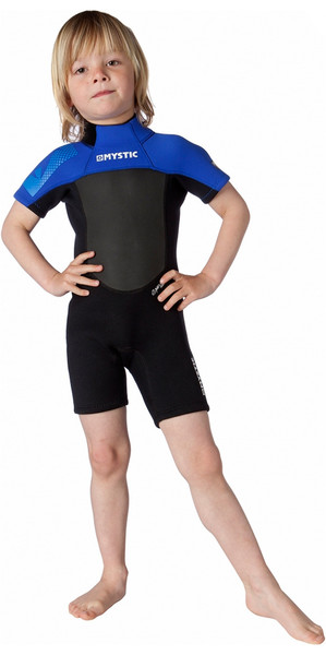 Mystic Kids Star 3/2mm Back Zip Shorty Wetsuit Black / Blue 140190