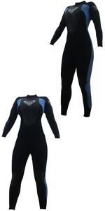 Roxy Womens Syncro 3/2mm Flatlock Steamer Wetsuit SY40WS Black / Pewter