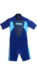 Roxy Syncro Junior Girls Shorty Wetsuit Navy / Aqua SY65TS