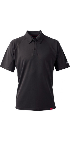 2018 Gill Herren UV Tec Polo Top CHARCOAL UV002