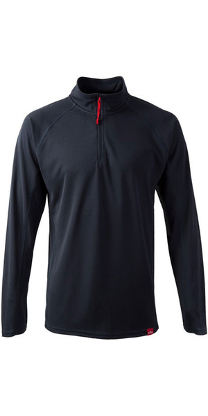 2018 Gill Herren UV Tec Zip Neck Top in Navy UV003