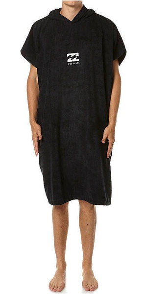 2018 Billabong Mens Vader Hooded Changing Robe / Poncho NERO U4BR03