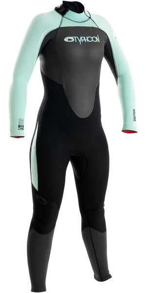 2019 Typhoon Womens Vortex 5/4/3mm GBS Back Zip Wetsuit Graphite / Glacier 250681