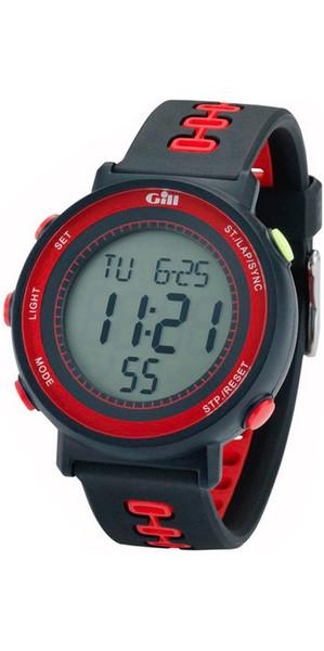 2018 Gill Race Watch Timer Zwart / Zwart / Rood W013