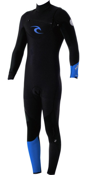 Rip Curl E-Bomb Pro 3 / 2mm GBS Chest Zip Wetsuit Negro / Azul WSM4AE