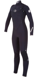 Rip Curl Womens 4 / 3mm Flashbomb CHEST ZIP Wetsuit i sort WSM4FG