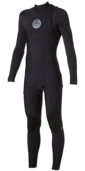 Rip Curl E Bomb Pro 5/3mm ZIP FREE Wetsuit BLACK WSM4PE