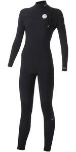 Rip Curl Womens G-Bomb 4/3mm Zip Free Wetsuit BLACK WSM5IG