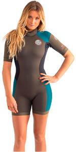 Rip Curl Womens Dawn Patrol 2mm Back Zip Spring Shorty Wetsuit FATIGUE WSP4FW