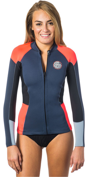 Rip Curl Mesdames Dawn Patrol 1.5mm manches longues Neo Jacket SLATE WVE4BW