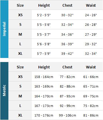 Mystic Womens Wetsuits 19 Womens Size Chart