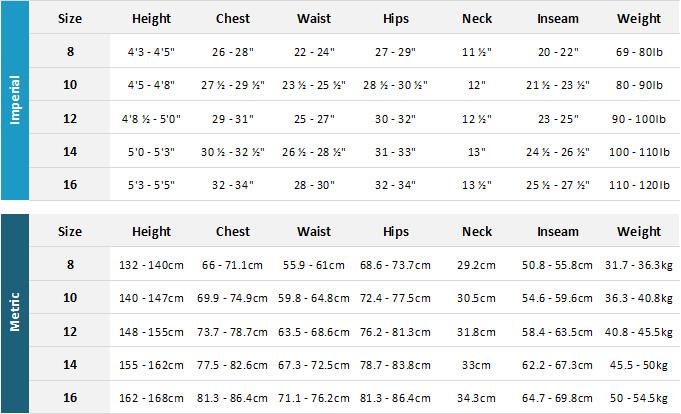 Quiksilver Junior Wetsuits 19 Mens Size Chart