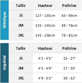 Typhoon Junior Drysuits 19 Mens Tableau des tailles
