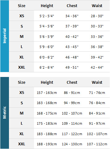 Henri Lloyd Mens Marine Garments 19 Mens Size Chart