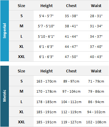 Yak Mens Drysuits 19 Mens Size Chart
