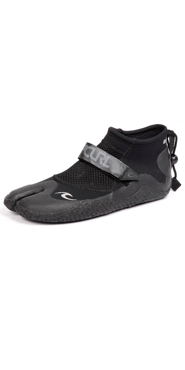 Rip Curl 1.5MM Dawn Patrol Reefer Low Split Toe Shoes Features Mesh water flow panels Compression strap Barrel lock closure coral proof sole Pull on heel strap
